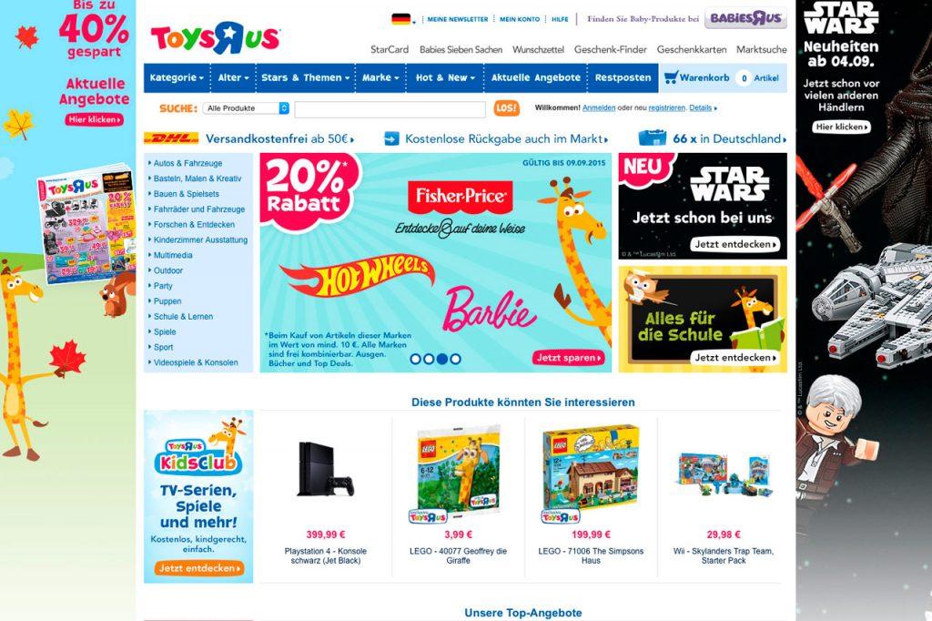 ToysRUs – Kindermode, Spielzeug & Babysachen - Online-Kinderwelt.de