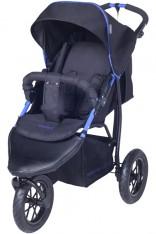 Knorr-Baby 3-Rad Sportwagen Joggy S mit Schlummerverdeck (Schwarz-Blau) [Kinderwagen]