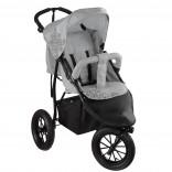 Knorr-Baby Joggy S Kinderwagen Sportwagen mit Schlummerverdeck grau
