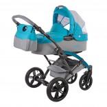 Knorr-Baby Voletto Happy Colour Kombikinderwagen mit Wickeltasche grau