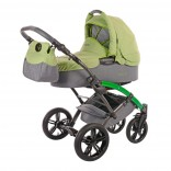 Knorr-Baby Voletto Happy Colour Kombikinderwagen mit Wickeltasche gruen