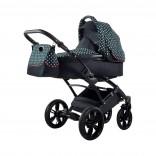 Knorr-Baby Voletto Kombikinderwagen mit Wickeltasche schwarz