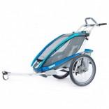 Thule – Chariot CX 1 Sitzer – Kindertransporter blau